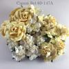20 Mixed 4 Sizes Cream White Lily Roses Paper Flowers