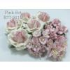 15 Mixed 4 Sizes Paper Flowers Pink Shade