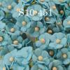 Solid Light Turquoise Blue Small Paper Flowers