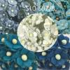 Mixed Solid 3 Blue / White Paper Flowers (265/170/421/451/15)