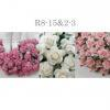 Mixed 3 Colors Soft Pink /Pink /White Paper Roses