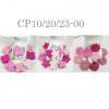 300 Mixed 3 Style Assortment Pink Scrapbook Die Cut Paper Flowers