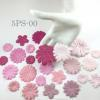 Mixed 5 Designs Pink Tone Hydrangea Scrapbook Die Cut Paper Flowers (PS/70/700/20/23)
