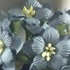 Baby Blue Color Paper Flowers