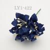 Solid DARK Navy Blue Lily Paper Flowers