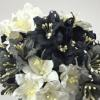Mixed Black Grey White Lily Paper Flowers