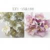 Mixed JUST Soft Purple and White Lily Paper Flowers