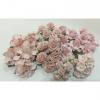 45 Mixed 8 Designs Paper Flowers Soft Pink Shade