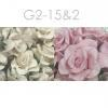 25 Mixed JUST Soft - White Curly Paper Flowers