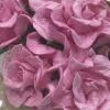 25 Pink Curly Paper Flowers