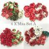 DIY Christmas Mixed Sizes Paper Flowers