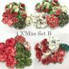 4 DIY Christmas Mixed Sizes Paper Flowers