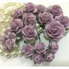 20 Mixed 4 Sizes Lilac Purple Tone Paper Flowers