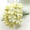 Yellow Cream Small Spring Cottage Paper Flowers