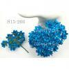 Solid Turquoise Blue Small Spring Cottage Paper Flowers