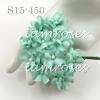 Aqua Blue Small Spring Cottage Paper Flowers