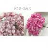 Mixed JUST 2 Pinks Small Spring Cottage Paper Flowers