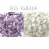 Mixed JUST Lilac - White Small Spring Cottage Paper Flowers