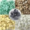 Mixed Cream / White / Taupe /Gray / Aqua Small Spring Cottage Paper Flowers