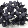 Small Black Spring Cottage Paper Flowers