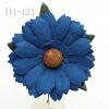 Solid Denim Blue Daisy Flowers