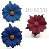 Mixed Burgundy with 2 Blue Daisy Flowers (104/421/422)