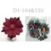 Mixed JUST Burgundy - Grey Daisy Flowers (104/421/422)