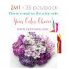 35 Mixed Sizes of 4 flower designs - Your Color Choics