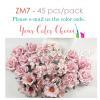 45 Mixed 4 Sizes flowers -Your Color Choices