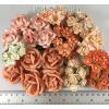 Mixed Fall Tone Craft paper flowers