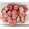 Mixed 9 designs paper flowers in Coral Shade