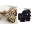 100 Mixed Just Taupe and Black paper flowers - SALE -