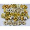 150 Mixed All Yellow Cream Shade Assortment Color and Designs - Only ONE set available - Yellow A