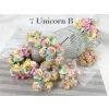 50 Unicorn Dyed Paper flowers (R3/5/21/40/43/CA1/LY1)