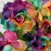 50 Special Hand Dyed Candy Color Paper Flowers