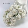50 White Carnation Paper Flowers