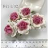 White - Pink Center Large Artificial Handmade Mulberry Paper Flowers Roses for crafts or wedding from Thailand