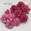 "Large 2"" Mixed Pink and HOT Pink Tea Roses"