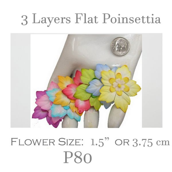 3 Layers Flate poinsettia - P80