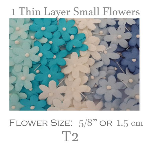 1 Thin Layer Small Flowers - T2