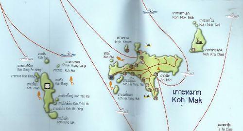 แผนที่หมู่เกาะหมาก