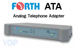FORTH ATA ( Analog Telephone Adaptor ) Voice Over IP