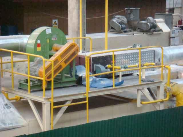 Hot Air Recirculate Blower ต่อกับ Firing Chamber