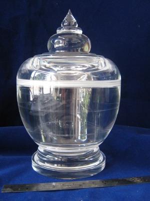 ผอบแก้วใสทรงสูง 12 เซนติเมตร ใสสะอาดตา