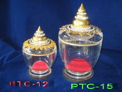ผอบลายไทยทรงสูง PTC-12 เทียบกับ PTC-15