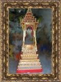 บุษบกขนาดใหญ่ บัลลังค์ 21 นิ้วไว้ประดิษฐานพระพุทธรูปหรือพระบรมธาตุ