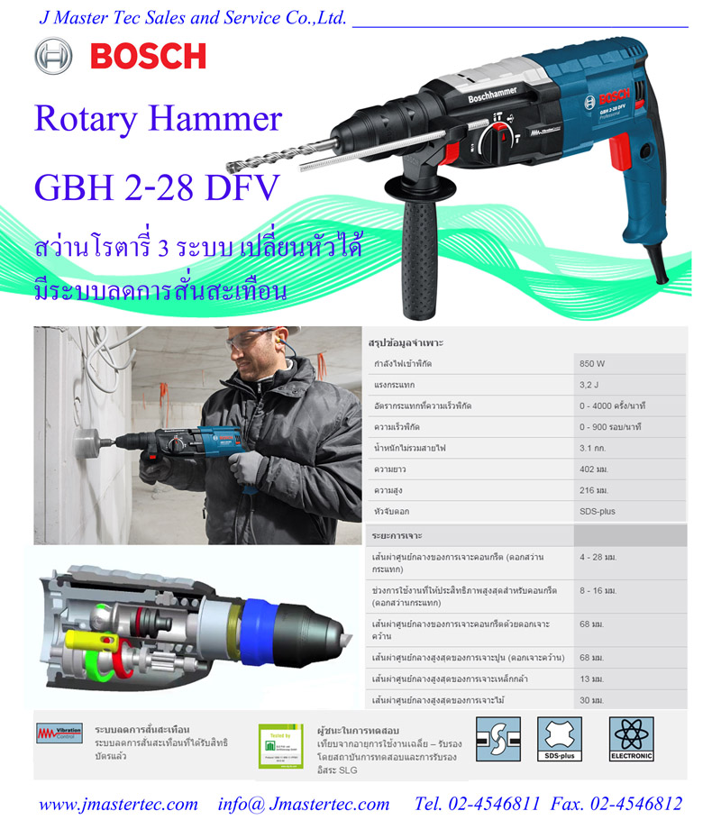 bosch gbh 2 28 dfv rotary hammer. Black Bedroom Furniture Sets. Home Design Ideas
