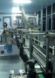 full line liquid preparation with conveyor view