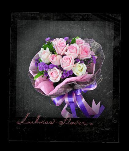 แบบช่อดอกไม้สด001 @ร้านดอกไม้ลูกแมว [Lukmaw-flower.com]