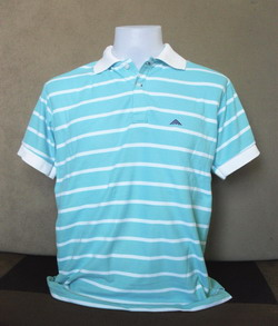 Stripe White Men's Polo Shirts